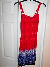 New Crossback Red White Blue 1 Pc Short Outfit Retails $48 Elstc wst Rewind SZ L