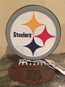 Pittsburgh Steelers NFL Football Resin Desk Logo - NWT
