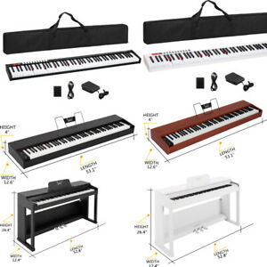 New 88 Key Digital Piano Electric Keyboard for Beginner/Professional 7 Style