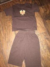 sz 6 M Baby Luigi Thanksgiving outfit top pants EUC Holiday boutique