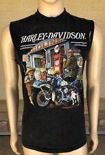 Vintage 90s Harley Davidson 3D Emblem Single Stitch 50/50 T Shirt USA Gasoline