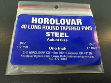 Horolovar 400 Day Anniversary Clock Steel Pins Tapered.075 to.045 Blue Set of 40