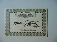 """""""Texas Rangers"""" Mike Jeffcoat Hand Signed Autograph Card Todd Mueller COA"""
