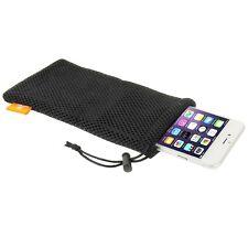 """Haweel EN NYLON MESH Sac avec cordon pour tous smartphones jusqu'à 5,5 """" pouces"""