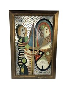 """Pablo Picasso """"Girl Before Mirror"""" Mixed Media Art - 24""""x36"""" Framed Reproduction"""