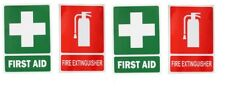 2 sets FIRST AID sign Sticker Work Place Safety Box Kit Workplace vehicle 2 PAIR