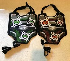Lot 2 - NERF Dart Tag Chest Shield Vest w Strap Orange and Green - Free Shipping
