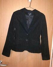 H&M.ladies jacket,black corduroy size 34eur.