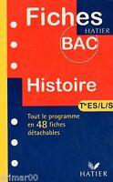 Fiches du BAC - HISTOIRE / Terminales ES - L - S // 48 Fiches détachables