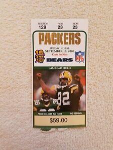 Green Bay Packers Brett Favre Ticket Stub September 10, 2006 Devin Hester Debut