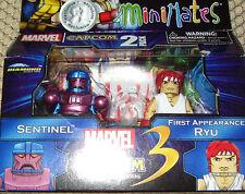 MARVEL VS CAPCOM MiniMates 2 Pack Sentinel VS Ryu new!