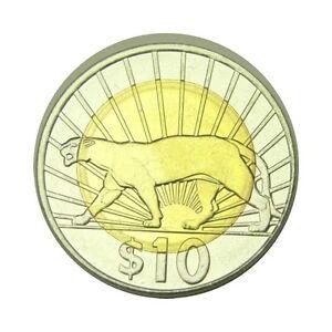 elf Uruguay 10 Pesos 2011 Bimetallic Cougar before a Sunrise
