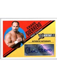 WWE Chavo Guerrero 2006 Topps Heritage II Authentic Autograph Card WWF DWC2
