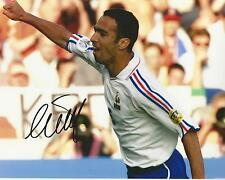 Youri Djorkaeff signed 10x8 photo Image B UACC Registered Dealer COA