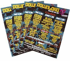 4x Original Ozzfest Posters 2005 Black Sabbath Motorhead Slayer Megadeth