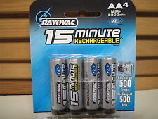 RAYOVAC I-C3  IC3 15-Minute 2300mAh NiMH 4-pack AA Batteries - NEW in Sealed Pkg