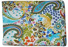 10 Yards Handmade Voile Block Print Natural Cotton Paisly Crafts Vintage Fabric