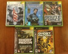 FPS SHOOTER ACTION 5-PACK BUNDLE LOT XBOX W/MANUALS GHOST RECON, DEUS, 007 BRUTE