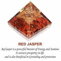 Red Jasper Orgone Pyramid Crystal Energy Generator EMF Protection Reiki Pyramid