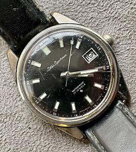 Vintage Seiko Sportsman 17j Ref# 6602 - 9930 U Men's Watch 36mm
