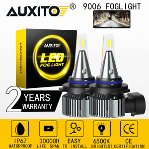 AUXITO 2X 9006 LED Fog Light Bulb Driving DRL HB4 4000LM 6500K I9 for Ford Chevy