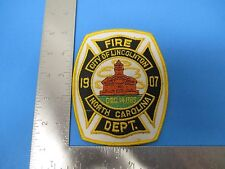 Fire Dept City Lincolnton North Carolina Patch Embroidered White Blue Gold S3185
