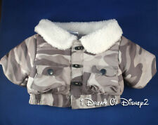 Build-A-Bear GRAY CAMO QUILTED WINTER JACKET w POCKETS, SHERPA Teddy Clothes