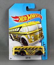 Hot Wheels Surf Bus 2014 No 3 Yellow Genuine School Long Card
