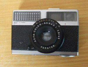 Agfa Sillete LK Film Camera with Sensor  AGNAR 1: 2.8/45 PARATOR Lens & Case