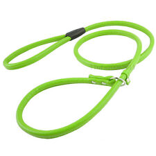 Soft PU Leather Dog Slip Lead Collar for Small Medium Dogs Training Walking S M