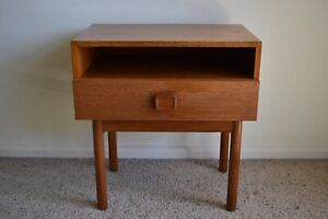 Retro Vintage Mid Century Parker Danish Style Bedside Table 1960's - 70's