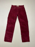 LEVI'S 401 STRAIGHT CORD Jeans - W30 L30 - Burgundy - Great Condition - Men's