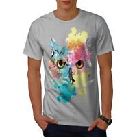 Wellcoda Stylish Owl Bird Mens T-shirt, Beautiful Graphic Design Printed Tee