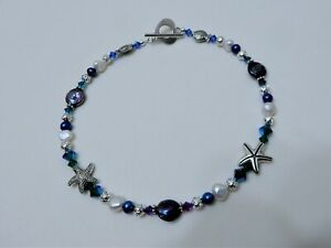 """Freshwater Pearl/ Swarovski Crystal/ Stainless Steel & Silver Plated Anklet 12"""""""