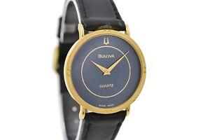 Vintage Bulova 8304042 Quartz Gold Plated Midsize Watch 1872