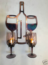 Wine Glass Holder Metal Wall Art