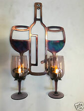Wine Glass Holder Metal Wall Art