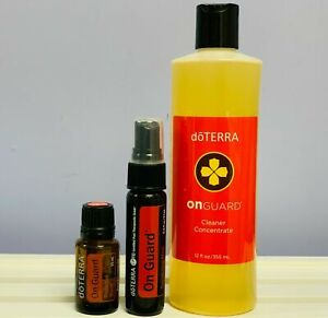 Doterra On Guard Cleanser Concentrate + Mist + 15ml Essential Oil Protect Family