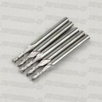 Hi Quality 5 x 2mm 2 Double Flute Carbide Ball Nose End Mills CNC bits 22mm CEL