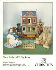 CHRISTIE'S SK TOYS DOLLS TEDDY BEARS ROBOTS SPACE DIECASTS Auction Catalog 1991
