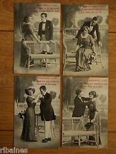 R&L Postcard: Set of 5 Cards, Wandering Love, No.765 Cards 1,3,4,5,6
