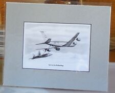 """KC-135R Stratotanker """"Air to Air Refueling"""" 8X10 Matted Print by Willie Jones Jr"""