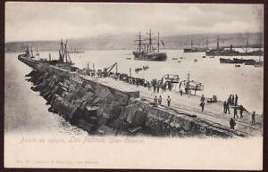 ORIGINAL SPANISH POSTCARD THE PORT OF LAS PALMAS CANARY ISLANDS SPAIN c1900