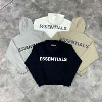 FOG Essentials Fear of God hooded Hoodie Loose Reflective Pullover Unisex