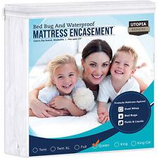 Bed Bug Proof Zippered Encasement Zip Guard Mattress Protector Waterproof Cover