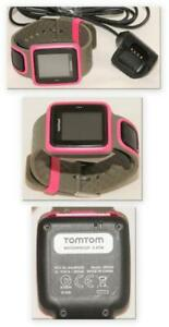 TomTom - Runner 8rs00 - GPS Watch w/ Charger - Athletic Yoga - Pink & Grey Band