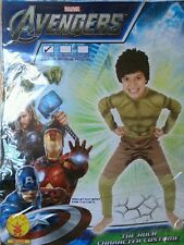 BNWT Boys Avengers The Hulk Jumpsuit Mask Boys Fancy Dress Party Costume 3-4 yrs