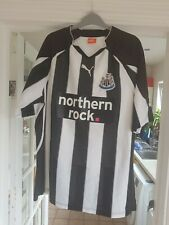 Newcastle United Puma Northern Rock Home Football Shirt Large