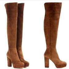 Fashion Over Knee High Boots Ladies Platform High Block Heel Boots Casual Party