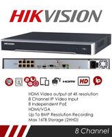 Genuine UK Hikvision DS-7608NI-K2/8P CCTV NVR recorder 4K HD 8ch POE H.265
